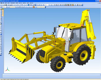 Excavator, produced by JSC SAREX, Russia